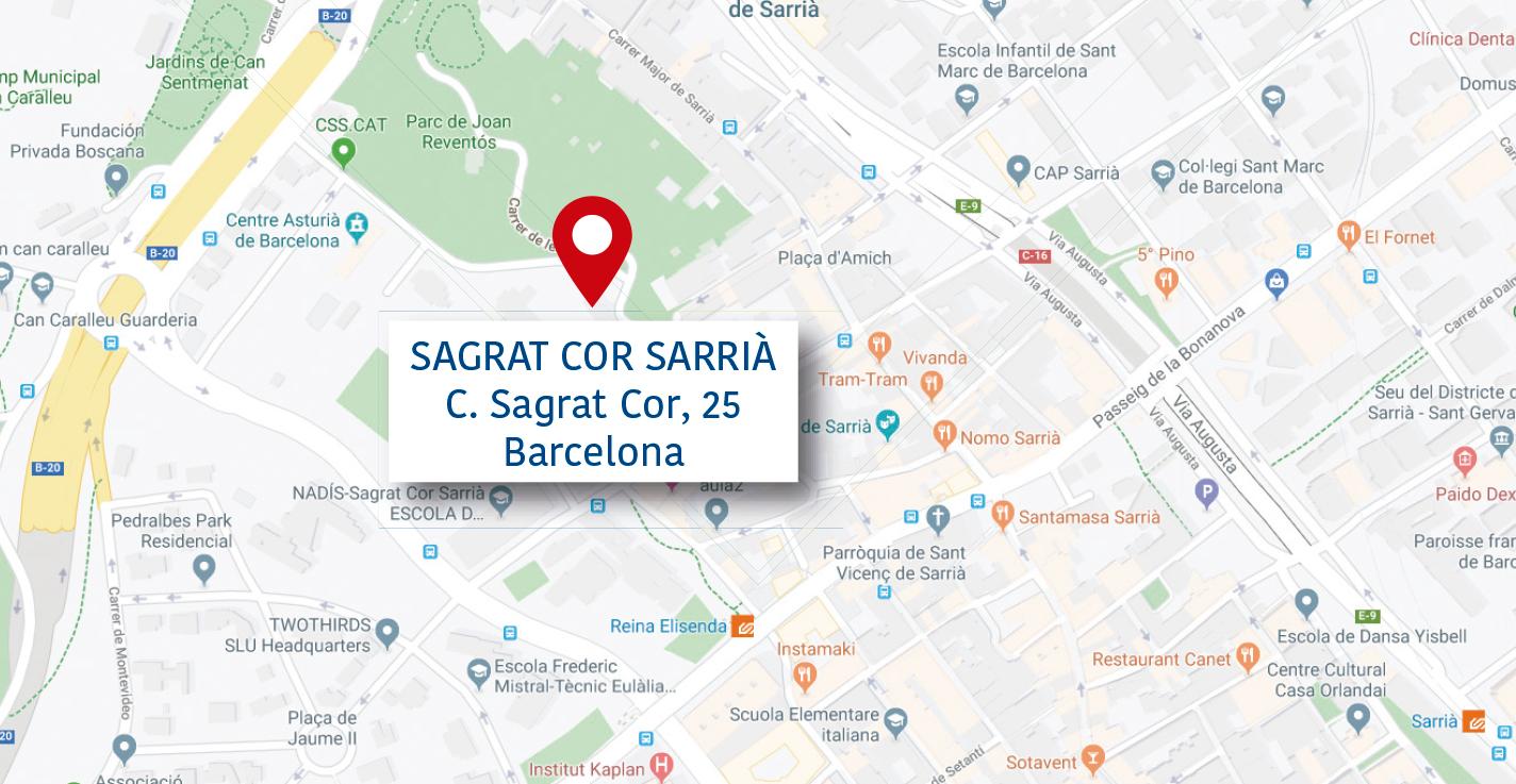 Mapa Sagrat Cor Sarrià